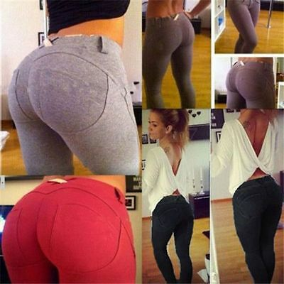 Sexy Femmes Taille Haute Pantalons Stretch Mince Leggings Crayon Pants Jegging