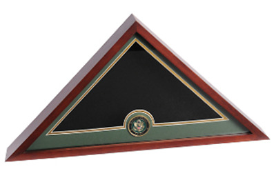 Army Flag And Medallion Display Case Hand Made By Veterans