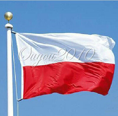 Glant Poland Polish Polska National Flag 5FT X 3FT Euro 2012 Olympics Football