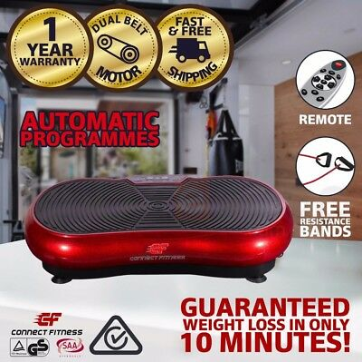CONNECT FITNESS Vibration Machine Platform Plate Trainer Whole Body Massager RED