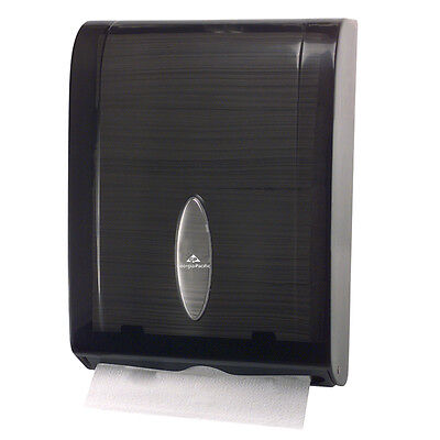 GP Combi-Fold Paper Towel Dispenser, Translucent Smoke Grey, WH--56650/01