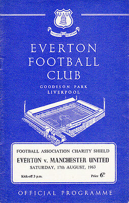 1963 FA Charity Shield - Everton v Manchester United
