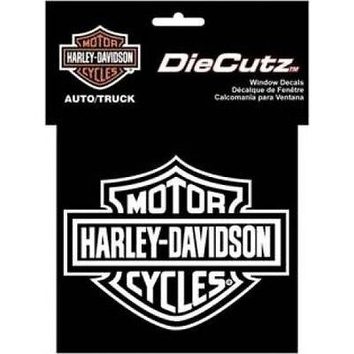 """Harley-Davidson Bar and Shield Die Cutz White Decal 4 x 5 """"  free shipping"""