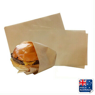 Greaseproof Paper Kraft Brown MODA 190x310mm Packet of 200 Cafe Burgers Chips