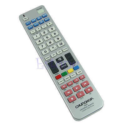 Universal 8 in 1 Remote Control Controller Learn Function For TV CBL VCR SAT DVD