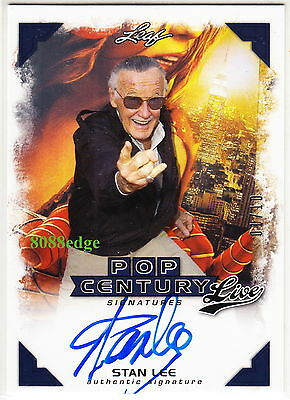 2014 Pop Century Live Auto: Stan Lee #1/10 On Card Autograph Marvel Comics 1/1