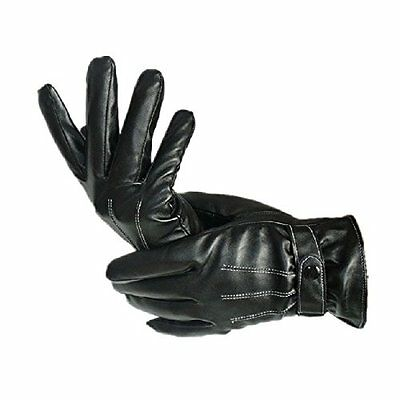 US Fashion Coromose Mens Leather Winter Super Driving Warm Gloves PU Outdoor
