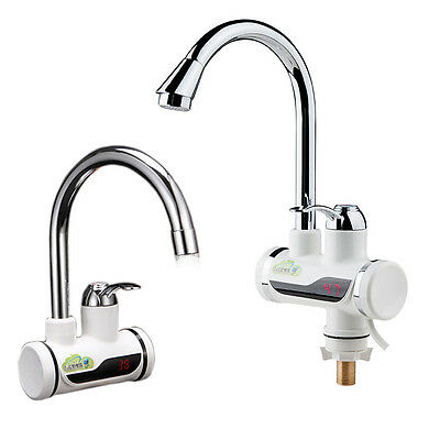 220V Kitchen LED Digital Display Fast Heating Electric Faucet Water Heater Taps
