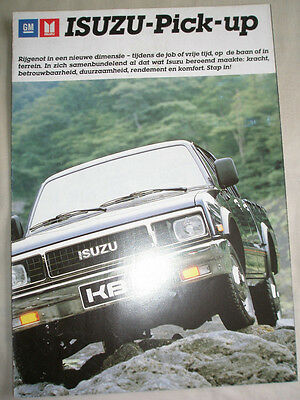 Isuzu Pick Up brochure c1986 Dutch? text