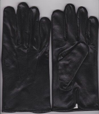 Mens Black Leather Dress Gloves Formal Victorianmourning