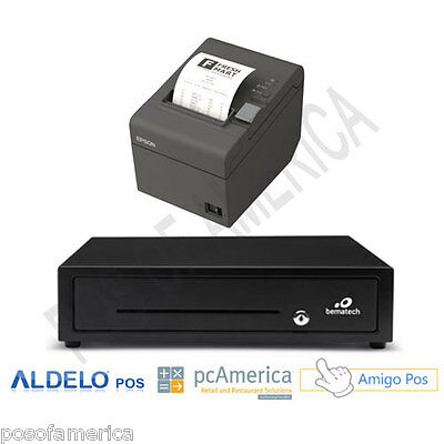 Point of Sale POS Entry Kit  Cash Drawer Thermal Printer  Aldelo pcAmerica NEW