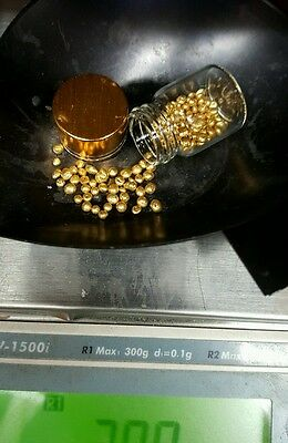 1 GRAM PURE 24K GOLD SHOT NUGGETS! Refined pure gold w glass bottle