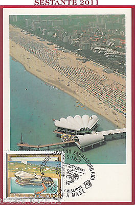 Italia Maximum Maxi Card Lignano Sabbiadoro 500 1988 Annullo B41