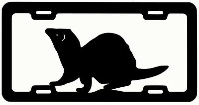 FERRET LICENSE PLATE FRAME metal art steel sign silhouette painted
