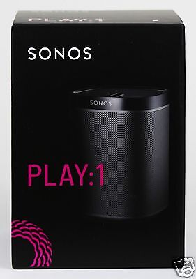 Brand New SONOS PLAY:1 Black Wireless Speaker for Streaming Music PLAY1 2ND GEN