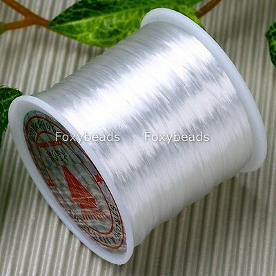 0.5Mm White Stretch Elastic Cord String Findings 80Yard