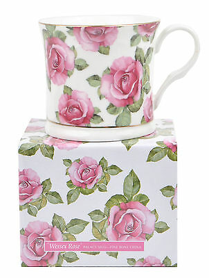 New Wessex Pink Rose Floral Rose Fine Bone China Palace Tea Coffee Mug Cup