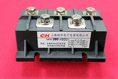Bridge Rectifier 3ph 200A 1600V MDS200A diode 3 phase 200 amp 1600 volt 1 PC USA