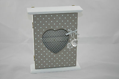 Wooden ShabbyChic  Wall Mounted Key Box / Cupboard / Cabinet  ***NEW***