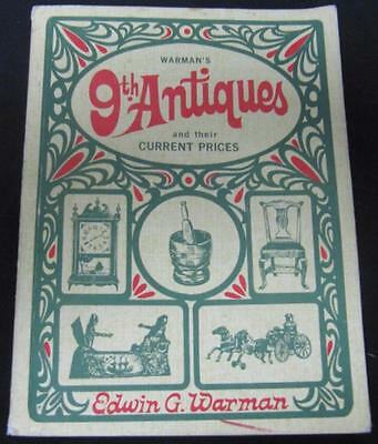 9th Antiques And their Current Prices Edwin Warman 1968 Paperback