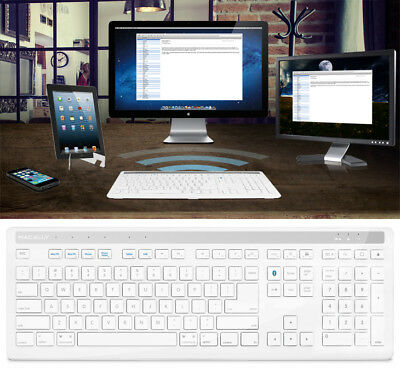 MACALLY BTKEYPRO BLUETOOTH FULL-SIZE KEYBOARD FOR MAC PC COMPUTER TABLET iPAD