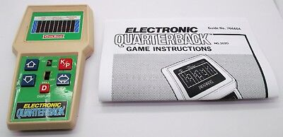 Electronic Quarterback Vintage Coleco 1978 Electronic Hand Held Game Repaired