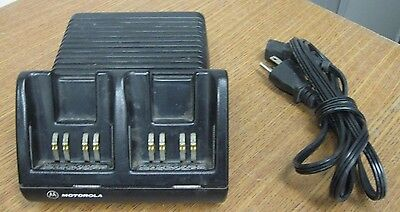 Motorola Visar Dual Shoe Battery Desk Charger AA16742 NTN7510B NTN7510C