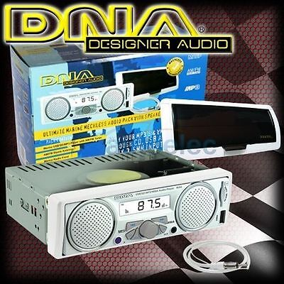Dna Marine Audio Boat Stereo Pack With Built In Waterproof Speakers New Ma6P
