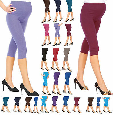 Cropped Very Comfortable Maternity Cotton Leggings 3/4 3 Length PREGNANCY mtr3/4