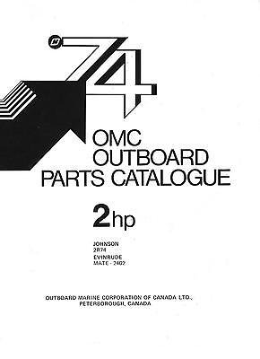 OMC parts catalogs 1974-covers ALL models Evinrude-Johnson 2hp to 125 hp