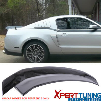2010-2014 Ford Mustang Painted Ebony Black Trunk Spoiler - ABS
