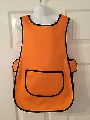 Wholesale Job Lot 10 Brand New Kids Childrens Tabards Aprons Orange Craft
