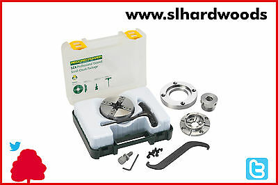 Woodworking Record Power SC4 Chuck Package Insert Thread, With 62572 Faceplate