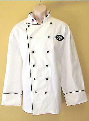 New Nfl New York Jets Premium Chef Coat 100% Cotton Xl Size Football Chief