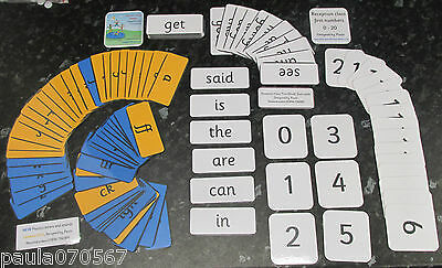 Reception First Learning Packs, Words, Phonics Letters & Sounds, Numbers 0 - 20