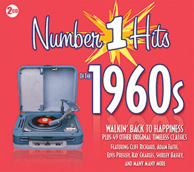 Various Artists : Number 1 Hits of the 1960s CD 2 discs (2013) Amazing Value