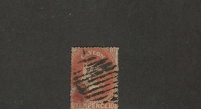 Ceylon, British, Postage Stamp, #33 Used Faulty Repaired, 1861
