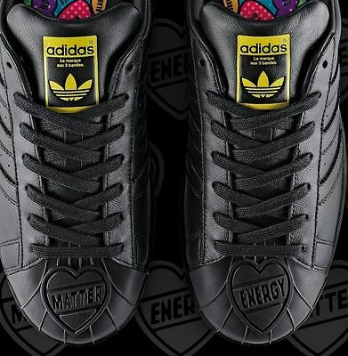 9a740fc271dec NIB Adidas Originals Pharrell Superstar Matter Energy S83345 Black Men SIZE  10