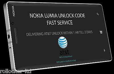 At&T All Nokia Lumia 520 635 830 920 925 1200 Unlock Code | Fast Service