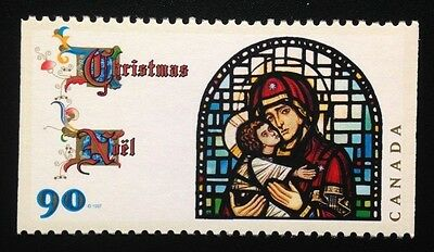 Canada #1671as MNH, Christmas Madonna and Child Booklet Stamp 1997