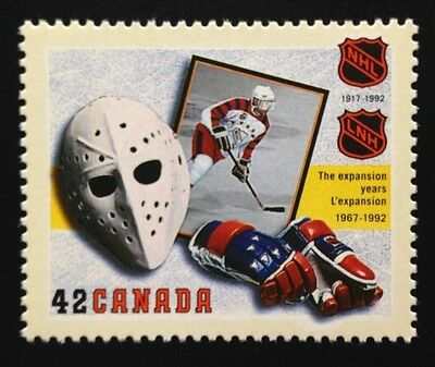 Canada #1445 MNH, National Hockey League Stamp 1992