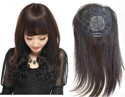 """100% human hair topper hand tied whirl hairpiece half-wig for women/men 5""""x5"""""""