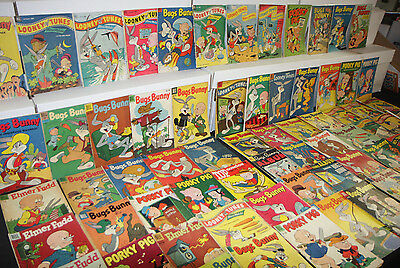VINTAGE DELL GOLDEN LOONEY TUNES COMIC LOT 72pc BUGS BUNNY FOUR COLOR 2.0-5.0
