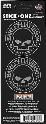 Harley-Davidson Skull Decals approximately 2 inch Round Stick-Onz free shipping