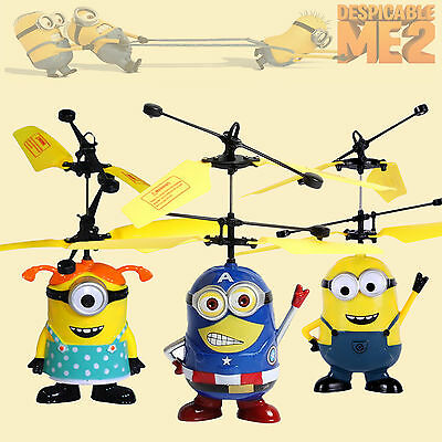 Despicable Me Flying Aircraft Minion RC Remote Control Helicopter Kid Toy Bauble