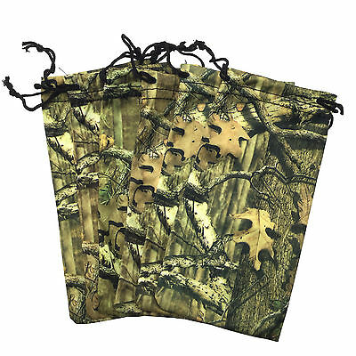 6 PC Camo Microfiber Soft Case Real Tree Pattern Pouch Bag Sunglasses Camouflage