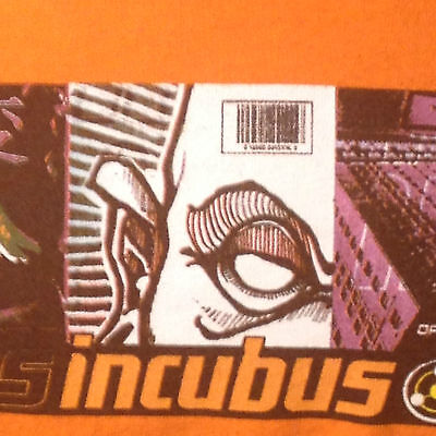Vintage 2001 Incubus Rock Band Tour T Shirt Drive Open Arms Eyes XL Morning View