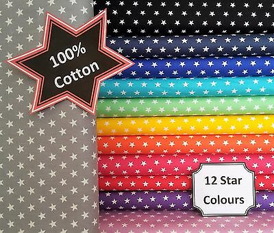 PATCHWORK NEW Star POPLIN Sew Fabric Material 100% Cotton Dressmaking Quilting