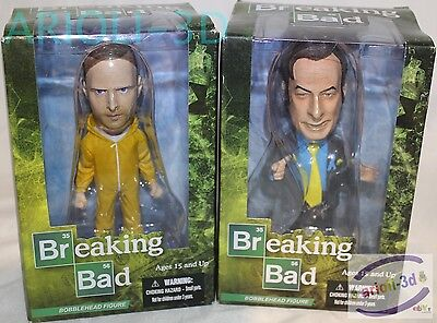 JESSIE PINKMAN & SAUL GOODMANSET of 2 BOBBLEHEAD FIGURE BREAKING BAD MEZCO NEW