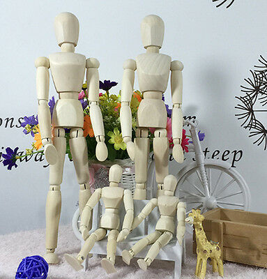 Unisex Artist Wooden Manikin Mannequin Sketch Sketching Lay Figure Drawing Model